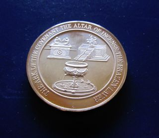 Ark Of The Covenant Alter Of Incense Brazen Laver Medallic Bible Bronze Medal photo