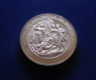 Bible,  Judges,  Jael Drives Nail Through Head Of Sisera Medalliac Bronze Medal photo
