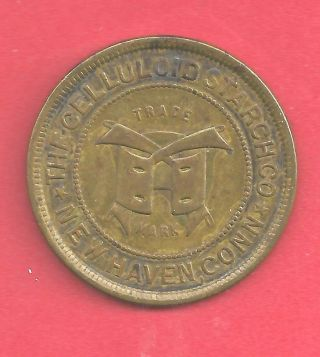 Connecticut,  Haven 1890 ' S Nhv 23 Celluloid Starch Co.  Brass 5cts @ Grocer photo