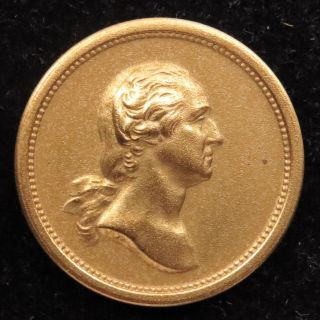 U.  S.  Medal Medalet No.  607 George Washington Abraham Lincoln 19 Mm Bronze photo