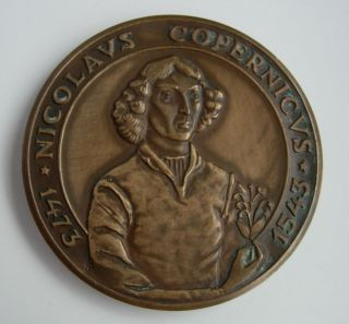 Polish Poland Astronomy Copernicus Mathematician Bronze Medal photo