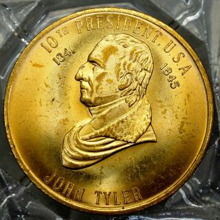 John Tyler 10th President Of The U.  S.  A.  Brass Collectors Token. . .  9655 photo