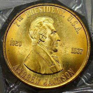 Andrew Jackson 7th President Of The U.  S.  A.  Brass Collectors Token. . .  9659 photo