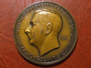 Klebelsberg Kuno 1931 France Hungary The Athlete H.  Matter Medal By Beran Lajos photo