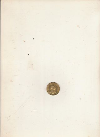 Andrew Johnson 17th President Of The U.  S.  A.  Brass Collector Token photo