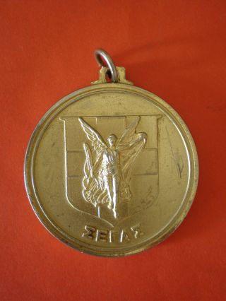Old Big Greek Metal Sports Medal - Medallic Art photo