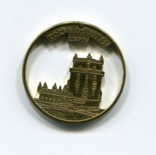 Unique Handcrafted Torre De Belem Portugal Medal photo