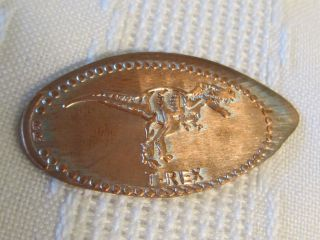 Wyoming Dinosaur Center T - Rex Dino Elongated Penny Souvenir Usa Copper Collect photo