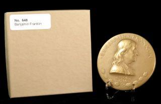 U.  S.  Medal No.  648 Benjamin Franklin 3