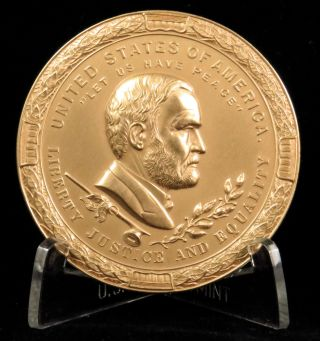 U.  S.  Medal No.  627 Ulysses S.  Grant Indian Peace Medal Bronze photo