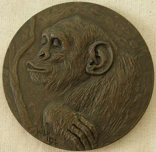 Chimpanzee Medal,  1973 By José De Moura photo