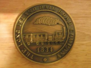 Bronze Medallion Long Island Railroad Medallion photo
