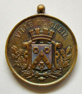 C683 France 1886 Ville De Creil Bronze Medal photo