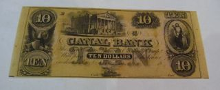 1860 ' S $10 Canal Bank Orleans,  La Unissued Exc Problem photo