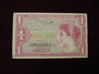 Military Payment Certificate $1 Series 641,  Replacement Note Very Fine - 12 photo