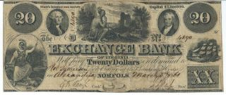 Obsolete Currency Virginia Norfolk/alexandria $20 1862 Signed/issued Fine 4890 photo