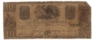 $10 Mechanics Bank Augusta Georgia Eagle Old Southern State Paper Money Currency photo