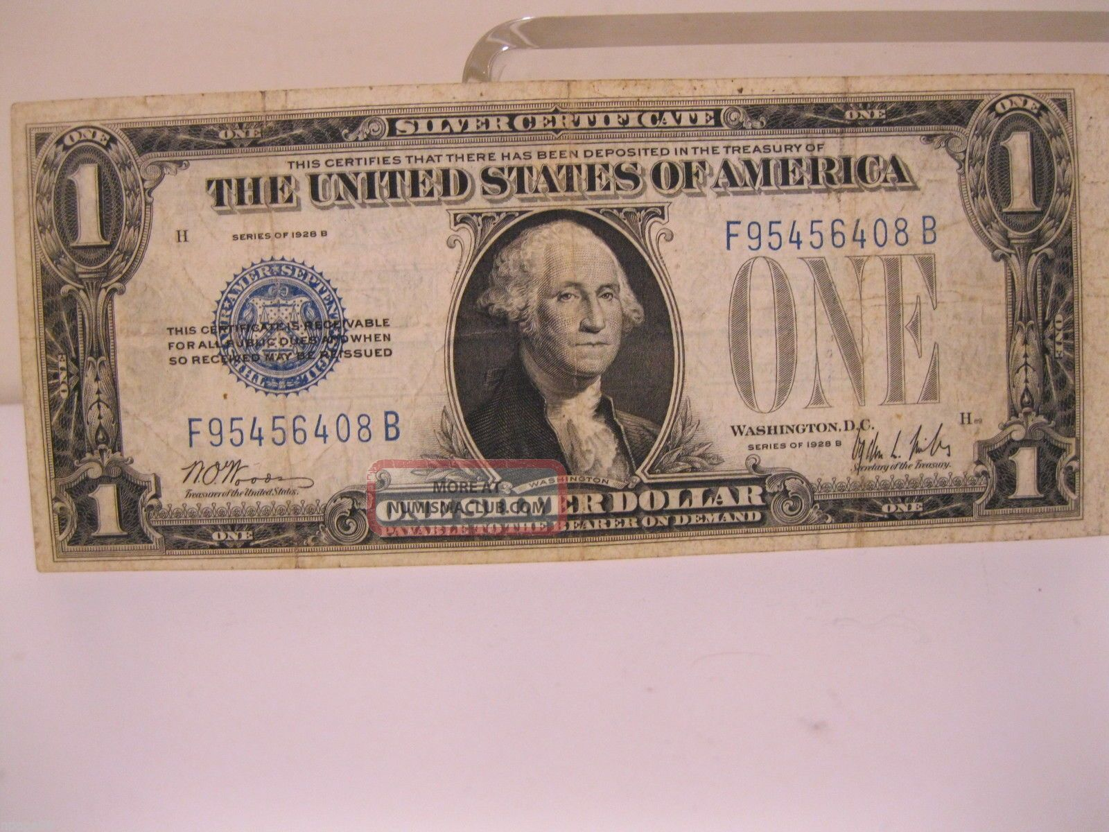 Series 1928 B One Dollar Bill 1 Funny Back Silver Certificate