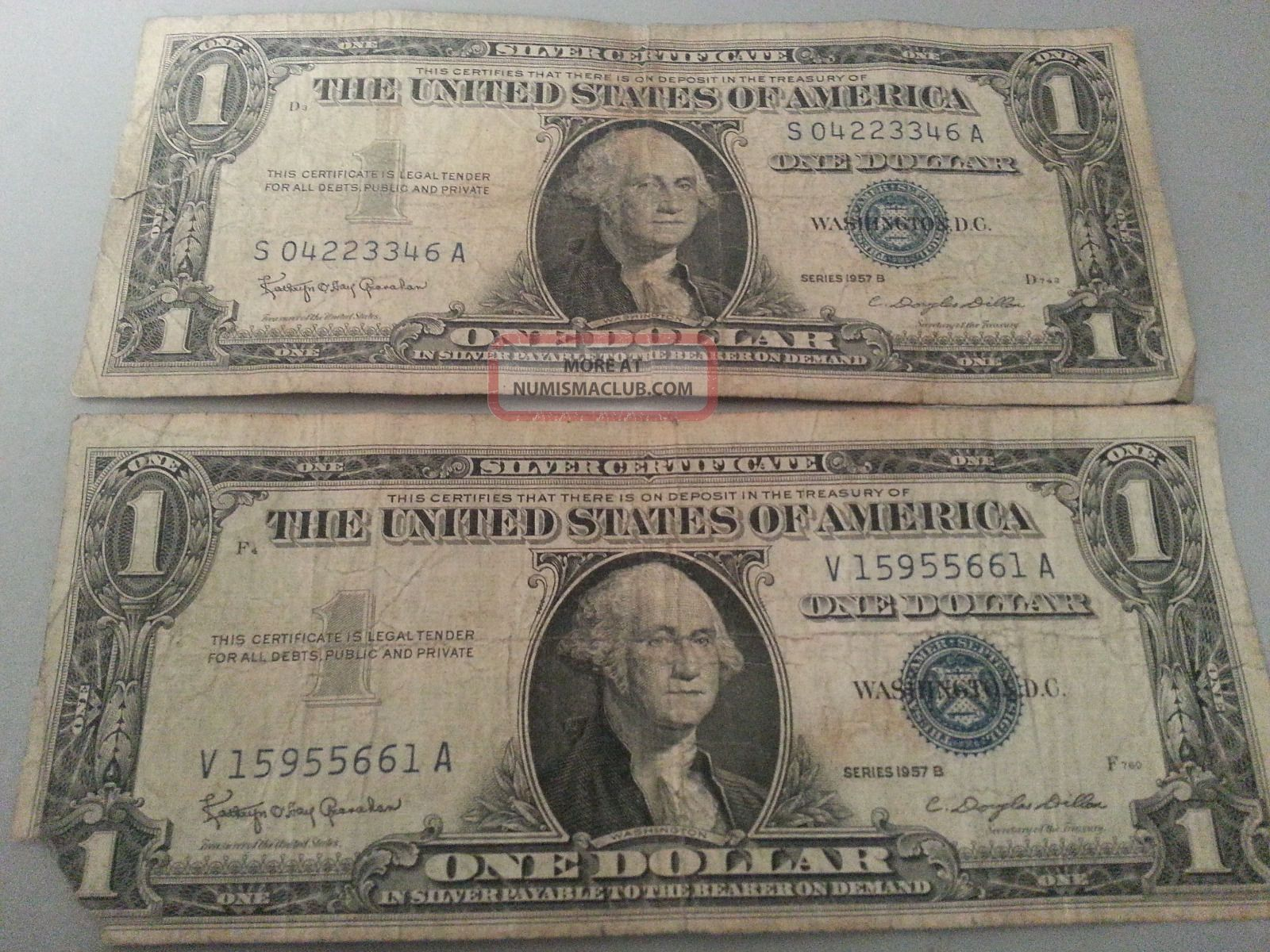 dollar certificate 1957