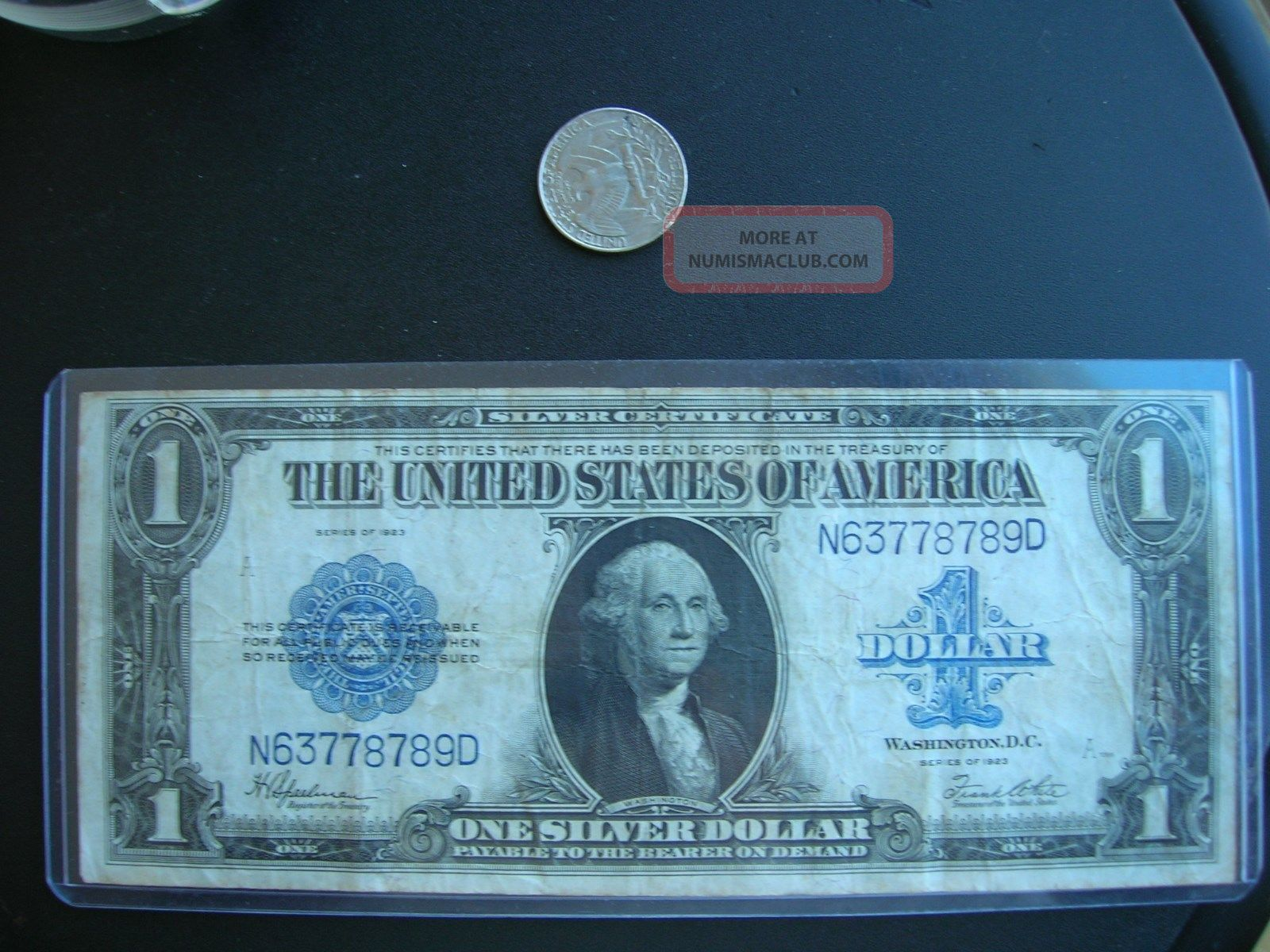 1923 United States Silver Certificate Large 1 One Dollar Bill
