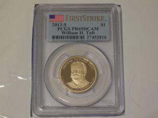 2013 - S William H.  Taft Gold Dollar Pcgs Pr69dcam First Strike photo