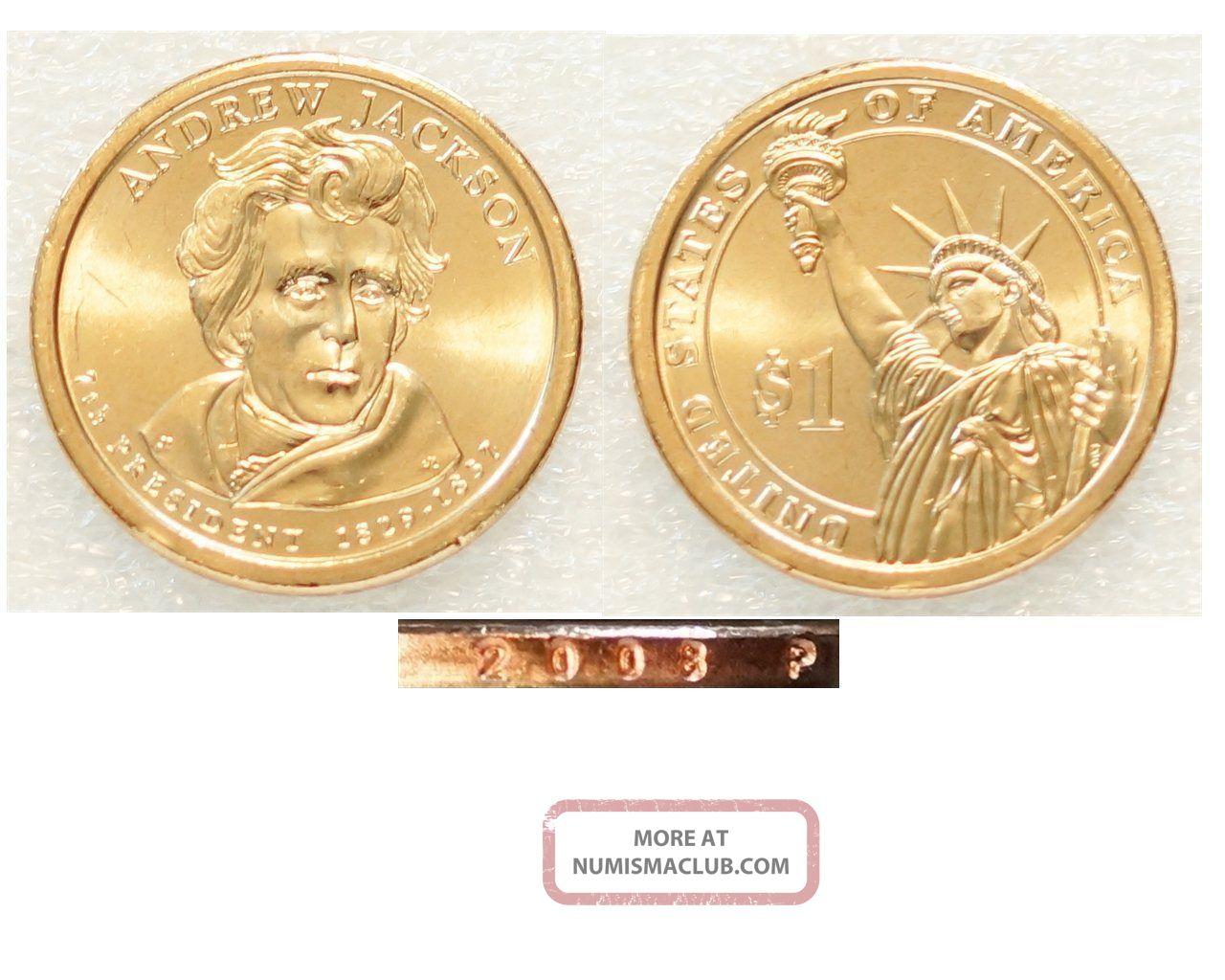2008 - P $1 Andrew Jackson Presidential Dollar Us Coin Dollars photo
