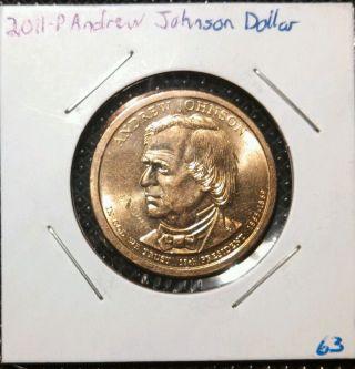 2011 - P $1 Andrew Johnson Presidential Dollar photo