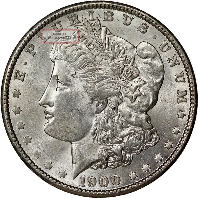 1900 Morgan Dollar Silver Coin State Brilliant Uncirculated