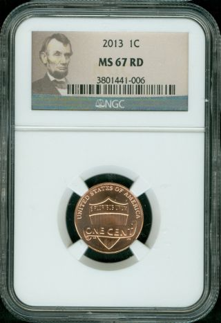 2013 - P Lincoln Shield Cent Ngc Ms67 Red And Rare photo