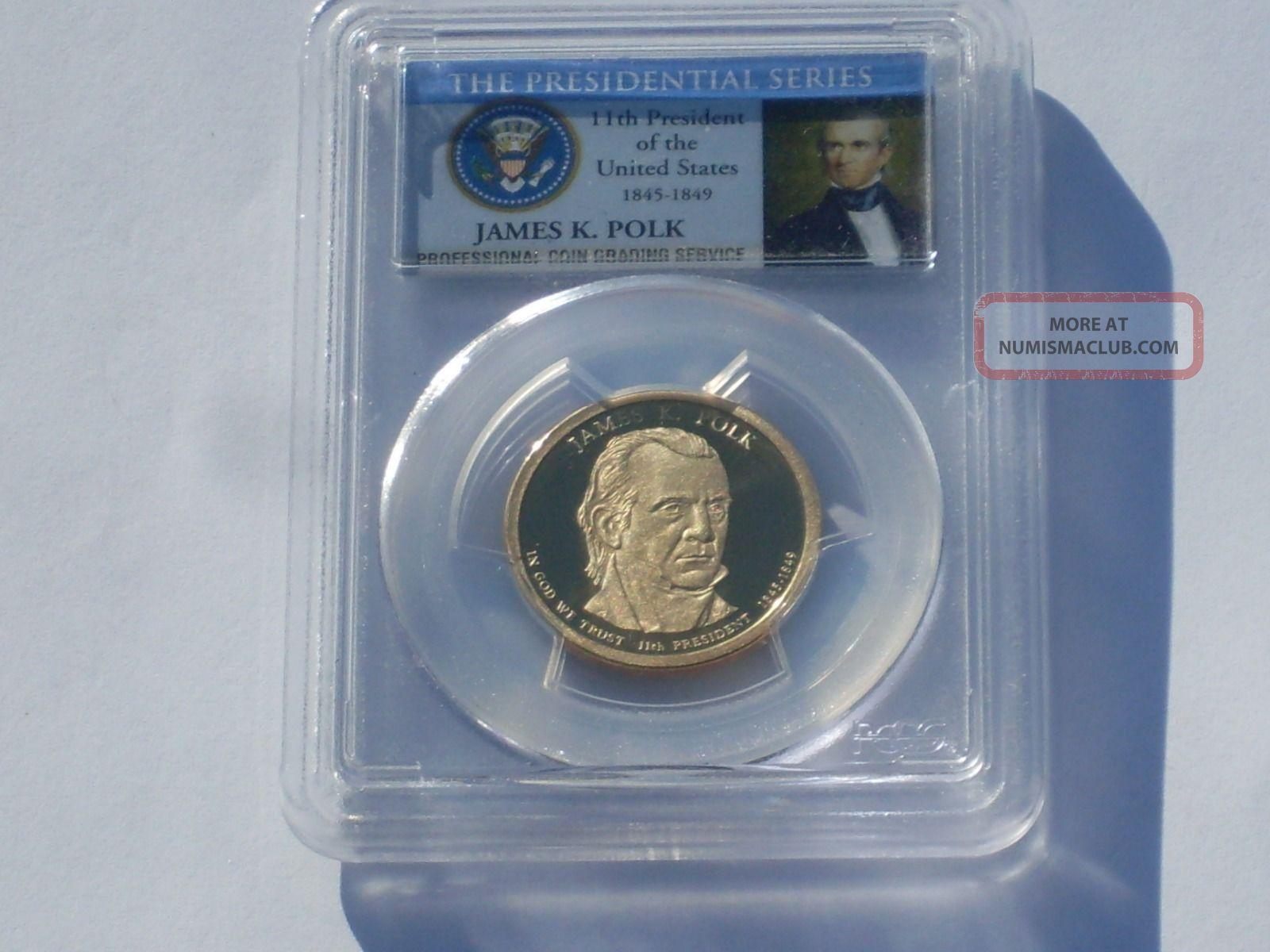 2009 - S Pcgs Pr69dcam James K.  Polk $1 Dollars photo