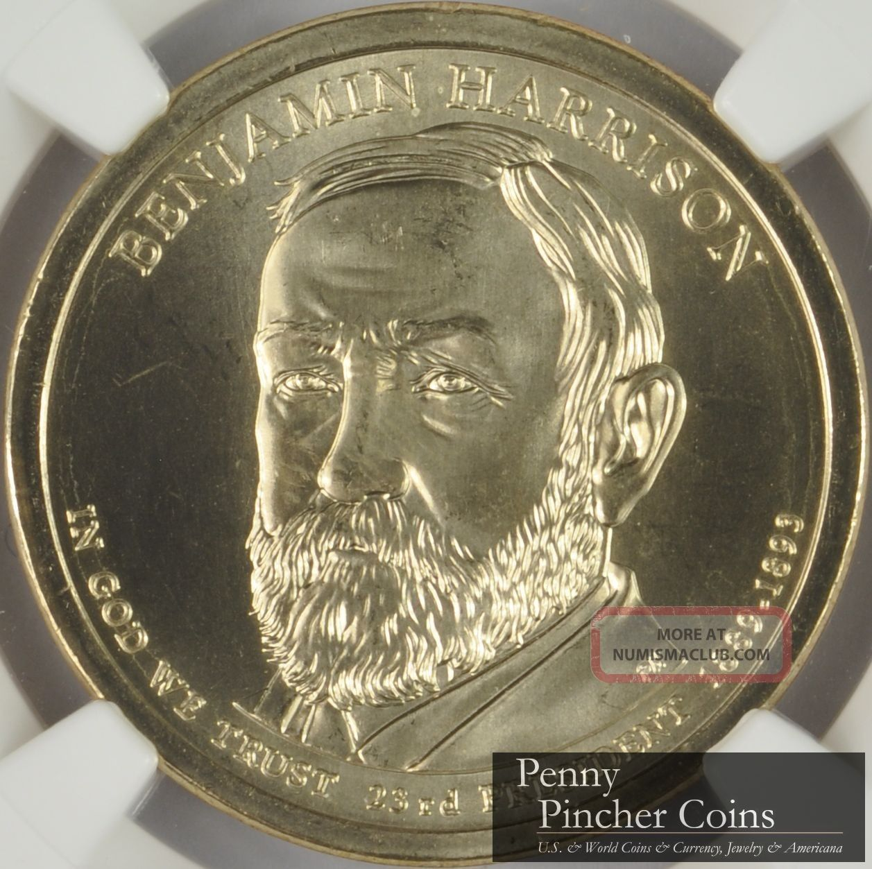 2012 - D Benjamin Harrison Presidential Dollar Ngc Ms - 67 Early Releases Dollars photo