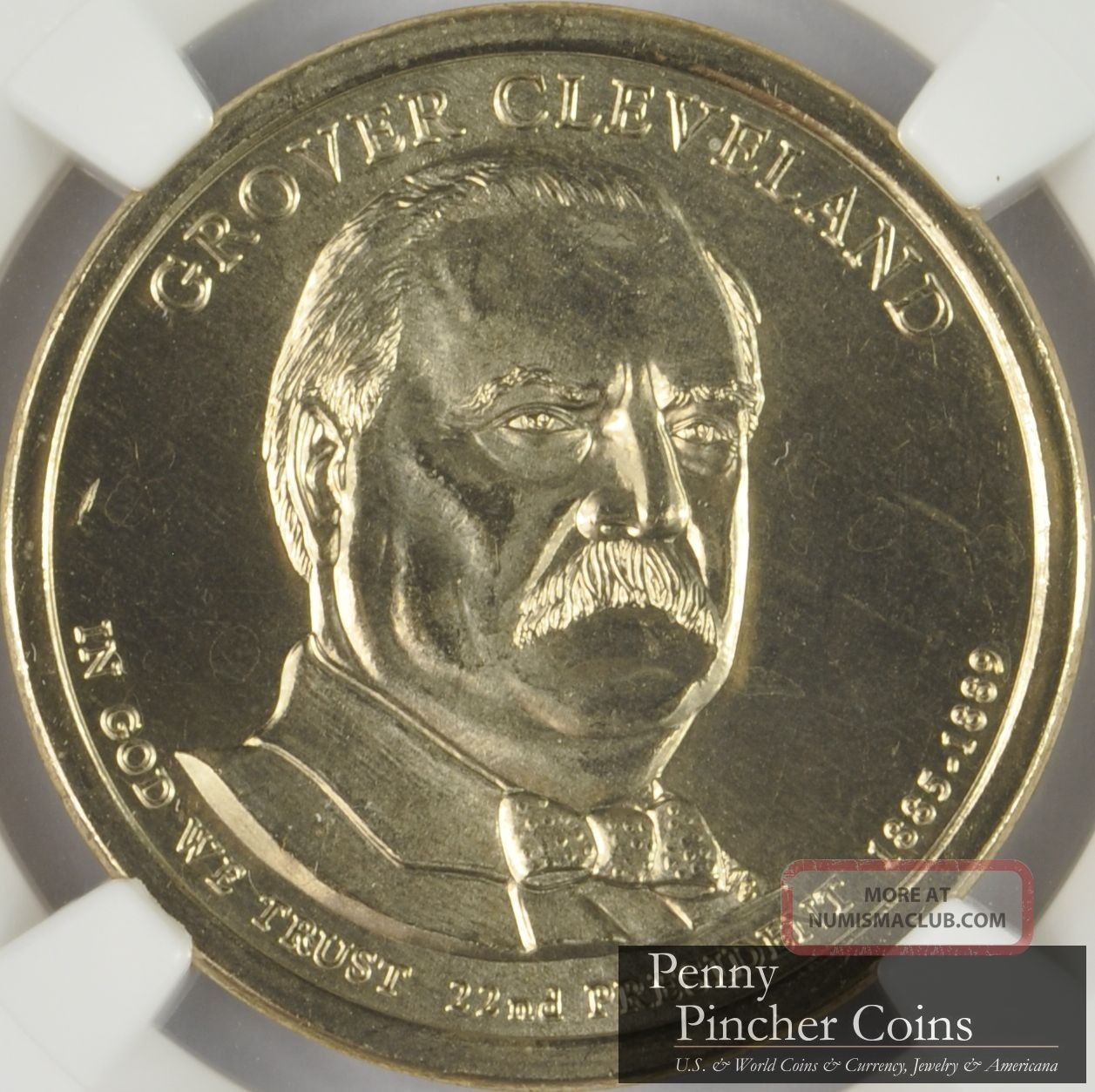 2012 - D Grover Cleveland Presidential Dollar Ngc Ms - 67 Early Releases Dollars photo