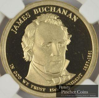 2010 - S James Buchanan Presidential Dollar Ngc Pf - 69 Ucam Ultra Cameo photo