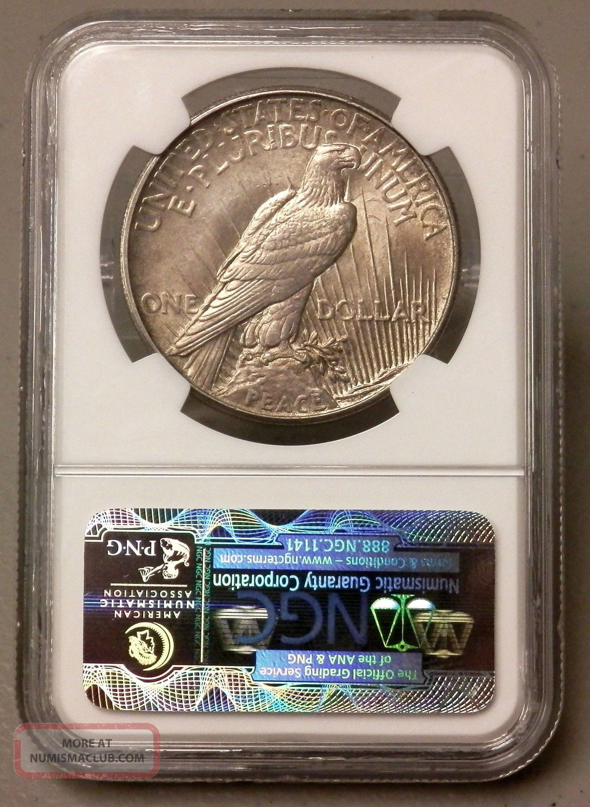 1921 United States Peace Silver Dollar Ngc Graded Ms64