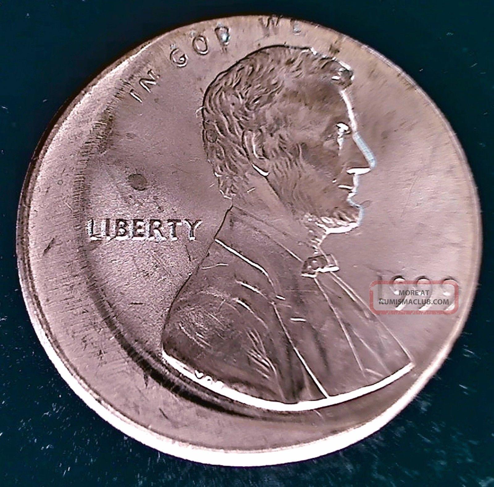 1999 Off Center Error Lincoln Cent Ch Gem Bu Full Red
