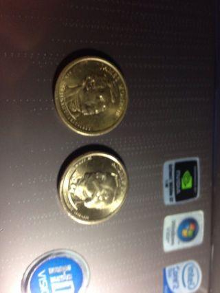 2011 P Andrew Johnson Presidential Dollar - A & James Monroe Dollar photo