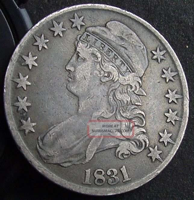 1831 Silver Capped Bust Half Dollar 50 C Full Liberty 1831