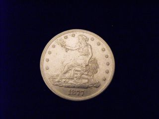 Rare 1877 - S Us Trade Dollar.  900 Fine Silver 1877 S photo