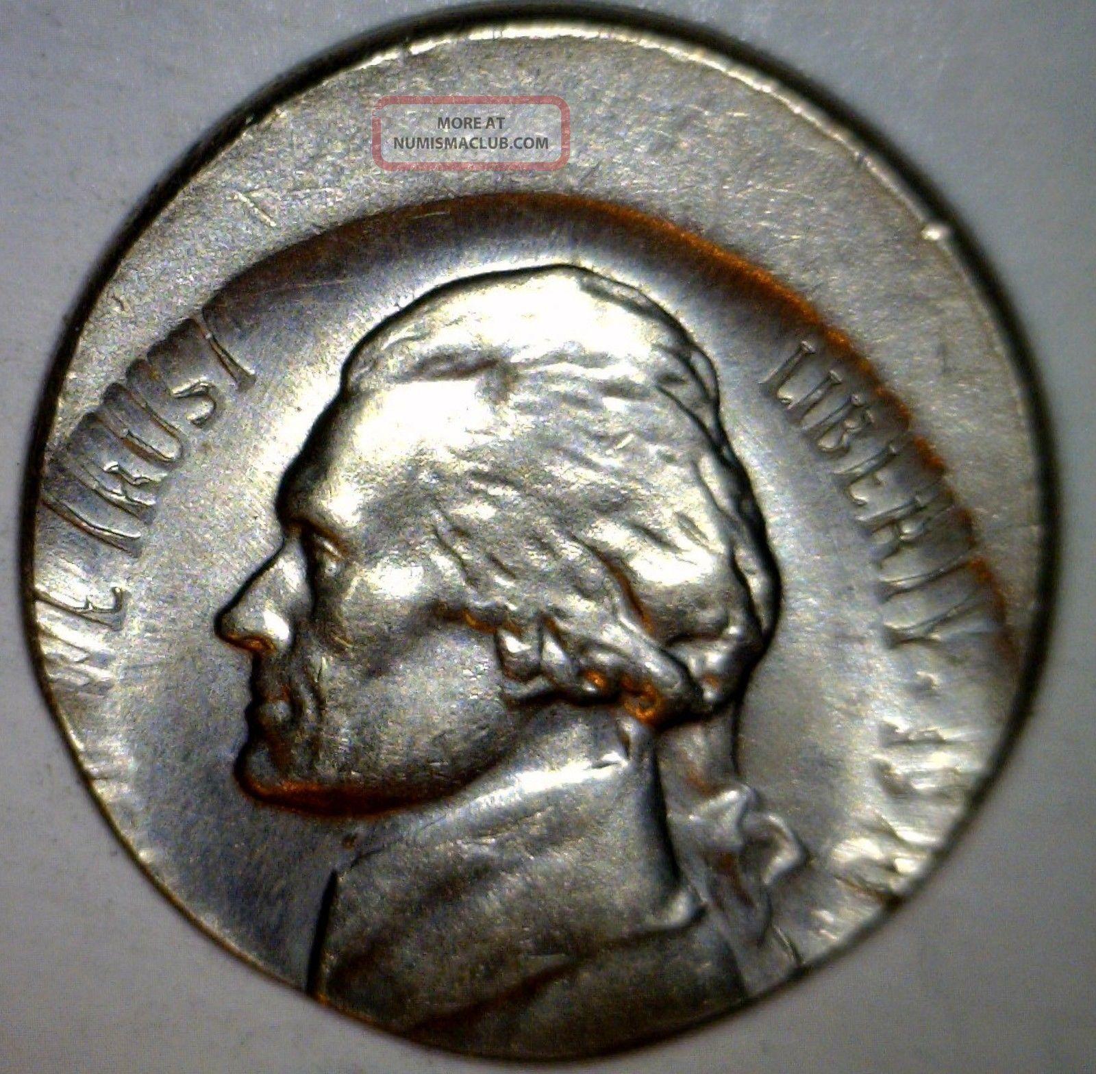 1970d Rare Date Error 20% Off Center Jefferson Nickel Bu
