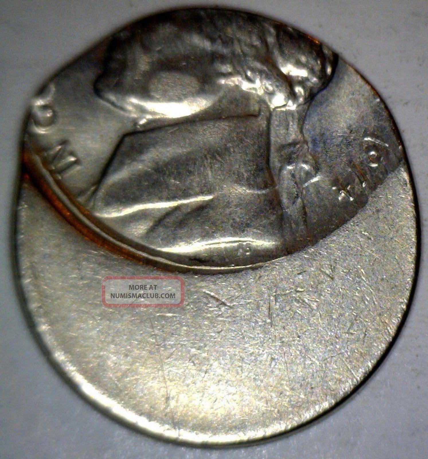 1974 Error 60 Off Center Jefferson Nickel Bu Ch Bu Full
