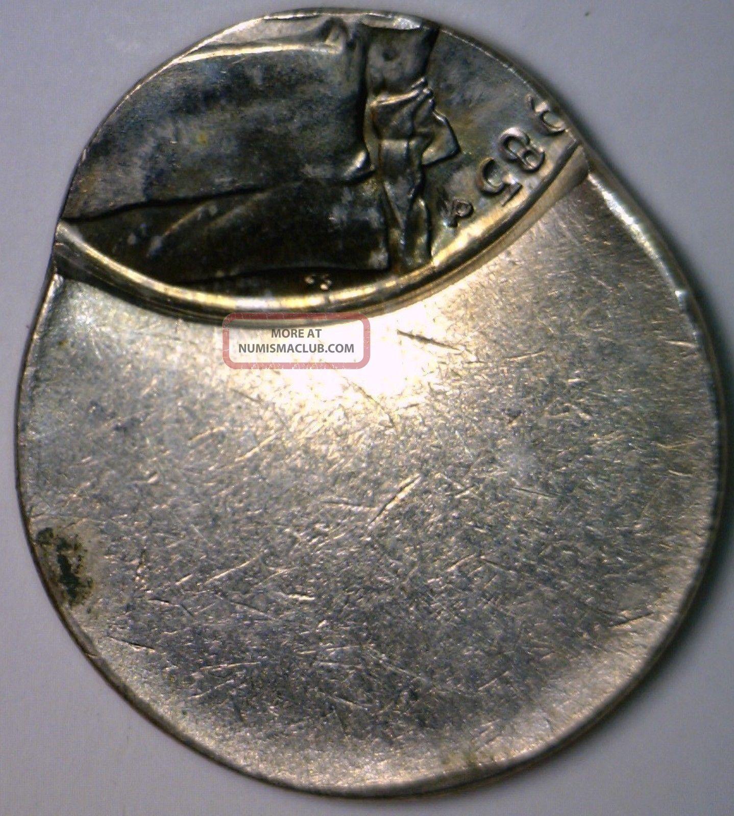 1985 Error 80 Off Center Jefferson Nickel Bu Ch Bu