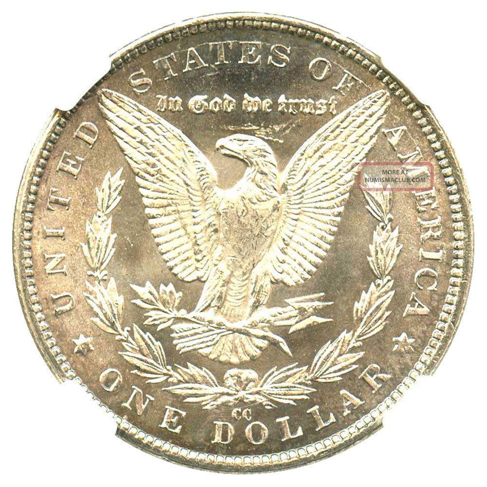 1883 Cc 1 Ngc Ms62 Morgan Silver Dollar