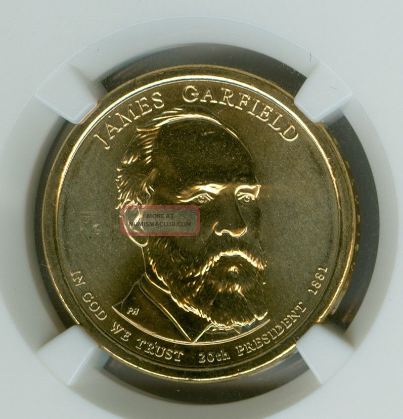 2011 - D James Garfield Dollar Ngc Ms68 Er Finest Registry Dollars photo