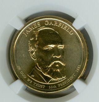 2011 - D James Garfield Dollar Ngc Ms68 Er Finest Registry photo