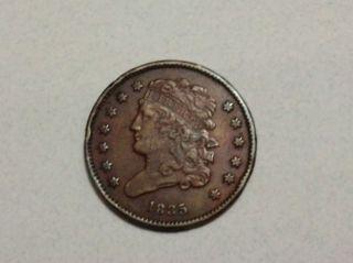 1835 1/2c Bn Classic Head Half Cent Coin photo