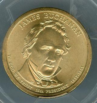 2010 - P James Buchanan Dollar Pcgs Sp68 Sf Pos - A 2nd Finest Registry photo