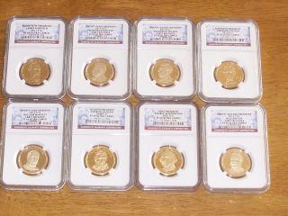 (8) Presidential Dollars Ngc Pf 69 Ultra Cameo Washington,  Lincoln,  Jackson &more photo
