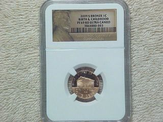 2009 S Proof Lincoln Bronze Bicentennial Penny Ngc Graded Pf69 Rd Ultra Cameo photo