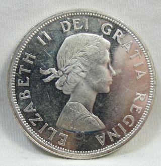 1964 S$1 Canada Dollar,  Confederation Commemorative,  Silver,  Unc,  4759 photo