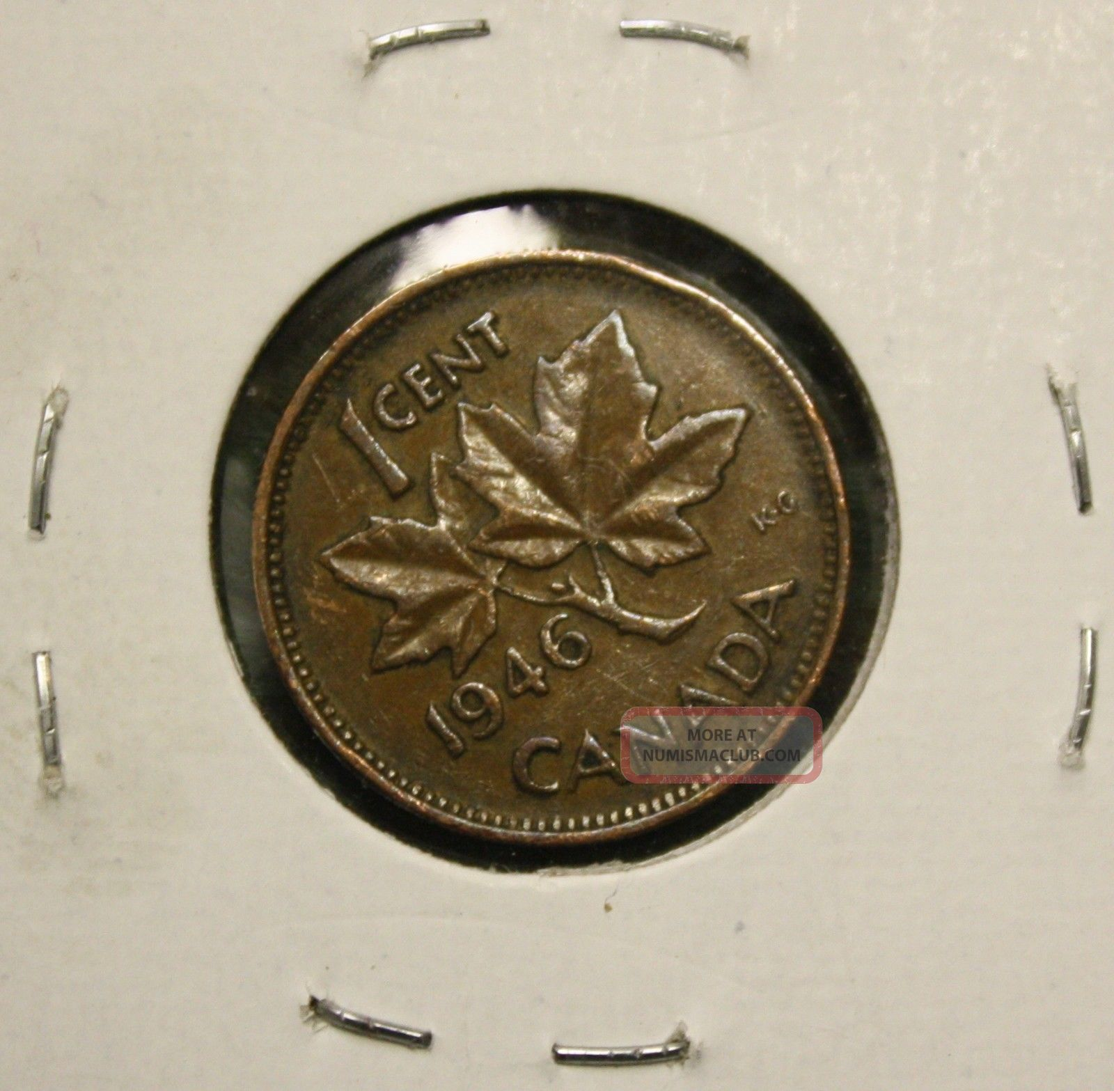 1946 Canada King George Vi One Cent Penny Coin